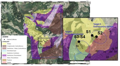 Figure 2 – Lidia Project: Targets 1 and 2 (CNW Group/Orvana Minerals Corp.)