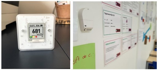 Examples of CO2 monitors with traffic light indicator showing the indoor air quality. Source: The Federation of European Heating, Ventilation and Air Conditioning Associations (REHVA) (PRNewsfoto/IDTechEx)