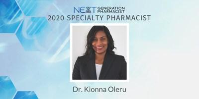 Congrats to BioMatrix Pharmacist, Dr. Kionna Oleru, 2020 Next Generation Specialty Pharmacist Award Winner