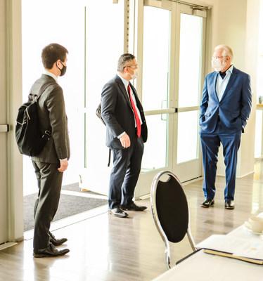 Consulate-General of Japan, Koji Imai; Executive Director of JETRO, Norihiko  Saeki; City of Lancaster Mayor, R. Rex Parris.