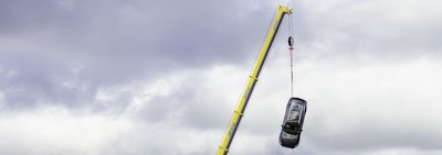 Volvo Cars drops new cars from 30 meters to help rescue services