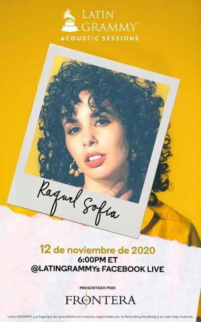Frontera will host a virtual acoustic concert featuring GRAMMY® nominee and three-time Latin GRAMMY® nominee Raquel Sofía