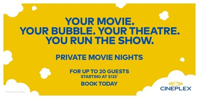 Cineplex Private Movie Nights (CNW Group/Cineplex)