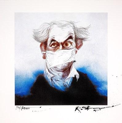 'MASK' A self portrait by Ralph Steadman