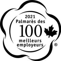 Logo de Palmarès des 100 meilleurs employeurs (Groupe CNW/Mediacorp Canada Inc.)
