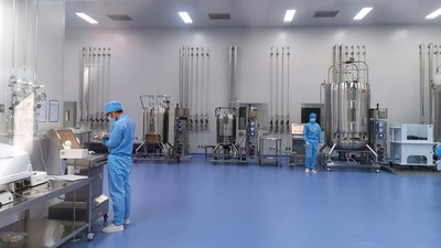 Clover upstream cGMP manufacturing site in Zhejiang China