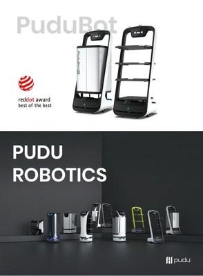# Pudu Bot, le robot de livraison de Pudu Robotics a remporté le prix best of best Reddot Award en 2017 # La famille des robots chez Pudu Robotics © Pudu Robotics
