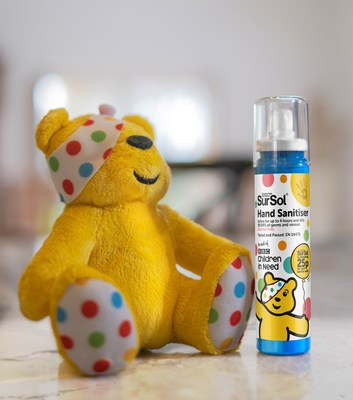 BBC Children in Need and SurSol reveal new exclusive official Children in Need alcohol free hand sanitiser (PRNewsfoto/SurSol)