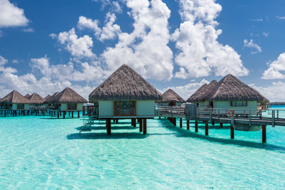 Looking ahead to 2021, travelers hope to escape to an island paradise, like these overwater bungalows in Bora Bora