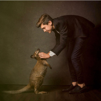 Dylan with his rescued kangaroo.