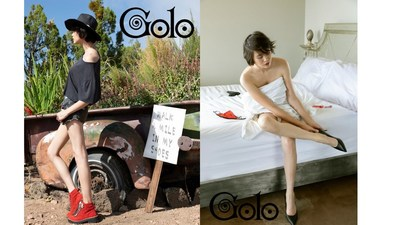 """GOLO SHOES FALL 2020 CAMPAIGN  (LEFT): """" Walk a Mile in Her Shoes"""" featuring Ren Sprigs a rising Transsexual Supermodel  (RIGHT): """"Protect Yourself"""" a follow-up in response to the backlash and criticism"""