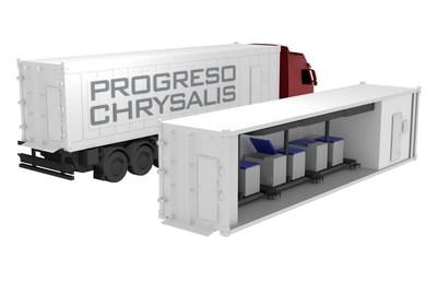 Progreso Chrysalis Vaccine Transport system mounted on vehicle.