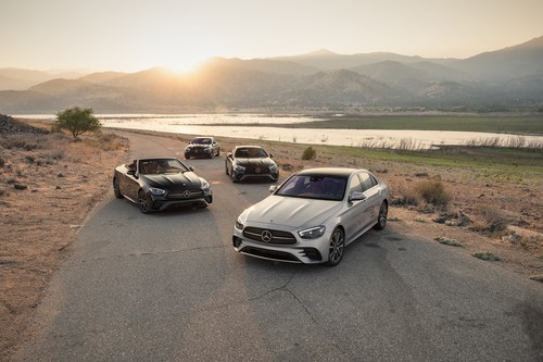 """Mercedes-Benz E-Class, winner of MotorTrend's 2021 """"Golden Calipers"""" for Car of the Year"""