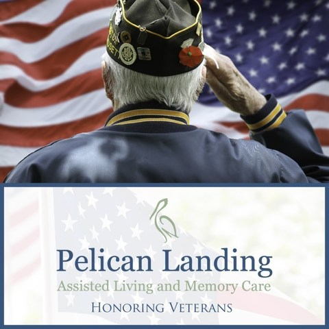 An honorary ceremony recognized the service of 23 veterans who are residents of Pelican Landing Assisted Living and Memory Care, a Watercrest Senior Living community in Sebastian, Florida.  Watercrest Senior Living's signature programming purposefully celebrates the momentous occasions of each resident's life.
