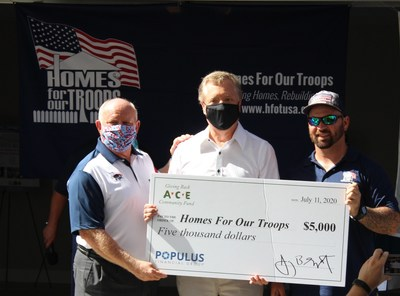 Populus Financial Group presents donation to Homes For Our Troops