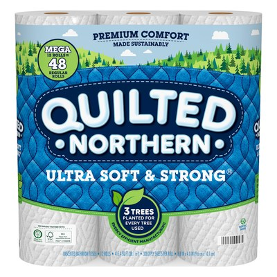 Three trees are planted for every one used to make Quilted Northern Ultra Soft & Strong®. The brand is partnering with the Arbor Day Foundation to plant two million trees by the end of 2021.