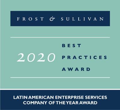 A Frost & Sullivan reconhece a Lumen com o prêmio de Empresa de Serviços Empresariais da América Latina 2020