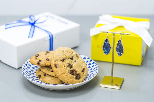 Kendra Scott and Tiff's Treats have collaborated to deliver exclusive statement earrings designed just for Tiff's Treats customers this holiday season.