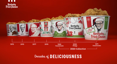 KFC's time-honored tradition dates back to the 1960s, creating festive holiday-themed buckets for loved ones to gather around and enjoy its world-famous fried chicken.