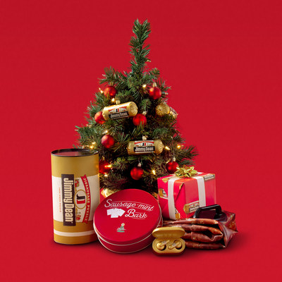 The Jimmy Dean® Recipe Gift Exchange offers six sausage-themed gifts including Sausage-Scented Wrapping Paper - a fan-favorite!