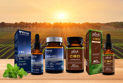 The Vitamin Shoppe has launched a comprehensive range of full spectrum CBD under the plnt brand and broad spectrum CBD under the Vthrive The Vitamin Shoppe brand.