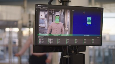 Honeywell's temperature monitoring system, ThermoRebellion, is installed at JFK Airport's Terminal One to screen passengers before they board their flights.