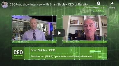 PURA Announces CEO Interview Featuring New Hemp Initiative On CEO Roadshow