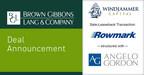 BGL Announces the Sale-Leaseback of Rowmark, LLC Properties on Behalf of Windjammer Capital Investors