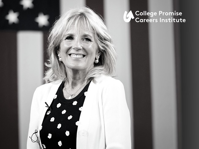 Dr. Jill Biden Delivers Opening Remarks at College Promise Careers Institute