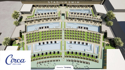 UrVenue's advanced technology brings physical spaces, like Stadium Swim, into the digital realm via an interactive 3D booking map found in various customer touchpoints, online and on-property. (PRNewsfoto/UrVenue)
