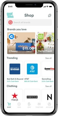 Shop hundreds of brands. Then, buy from brand sites right in the Good Deeds app.