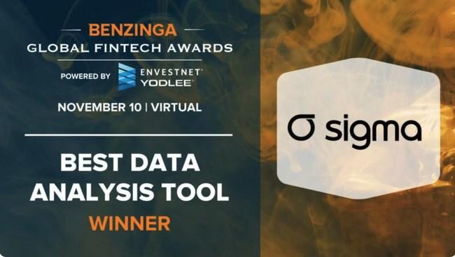 Sigma wins 'Best Data Analysis Tool' 2020