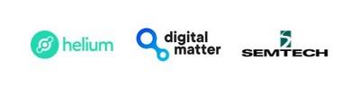 Helium Digital Matter Semtech Logos