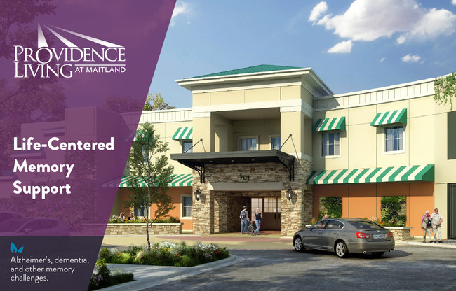 Rendering of memory care coming soon to Maitland, Florida.