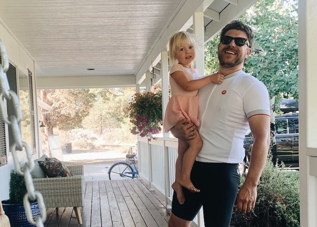 Matt at home in Bend, OR with his daughter.