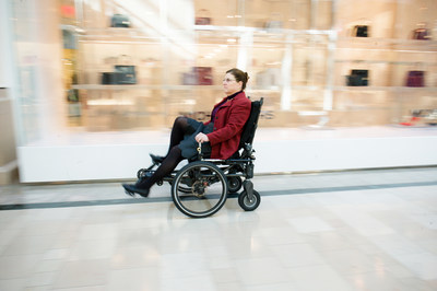 The Velochair in action at the Bridgewater Commons Mall in Bridgewater, NJ.