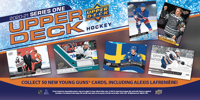 2020-21 Upper Deck Series One Hockey Release Announced, Featuring Highly-Anticipated Alexis Lafrenière Young Guns® Rookie Card The First-Ever Card Produced of No. 1 NHL DraftTM Pick Lafrenière in New York Rangers Uniform Highlights an Expansive Set of Young Guns® Up-and-Coming Talent