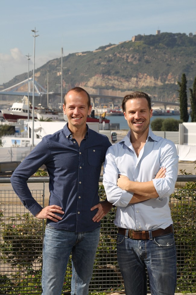 Otto Verhage (left) and Wouter Durville (right)