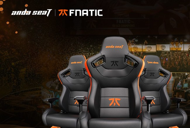 Andaseat globally provides professional gaming-seat solutions with the FNATIC e-Sports team