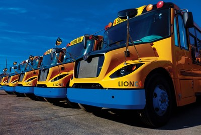 Lion Electric School Bus LionC line V2G enabled by Nuvve