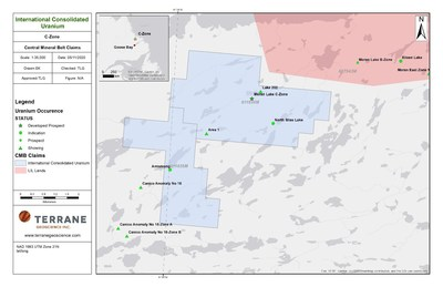 Figure 2 – Moran Lake C Zone (CNW Group/International Consolidated Uranium Inc.)