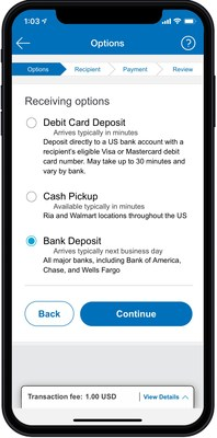 Xoom customers in the U.S. can now send money directly to a recipient's eligible bank account or debit card in the U.S.