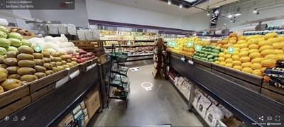 A view of Inabuggy and McEwan Fine Foods' 3D Virtual Grocery Store - a first of its kind in Canada. (CNW Group/Inabuggy)