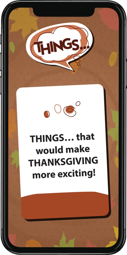 The THINGS... Mobile App Helps Families Laugh and Play Together Remotely This Thanksgiving! (CNW Group/PlayMonster LLC)