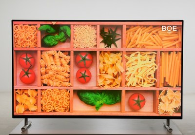 BOE unveils the world's first 55-inch UHD AMQLED display