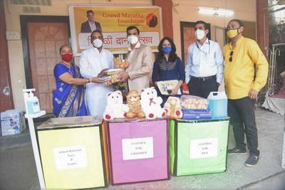 Grand Maratha Foundation providing books, toys to underprivileged school kids in Thane for Diwali