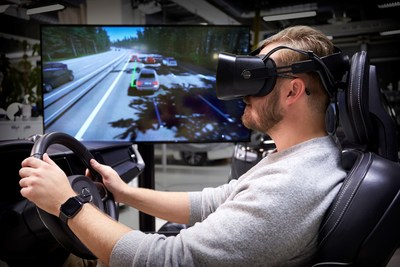 "Volvo Cars ""ultimate driving simulator"" uses latest gaming technology to develop safer cars (PRNewsfoto/Volvo Cars)"