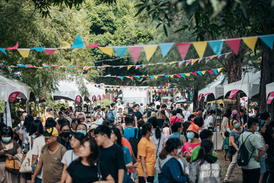 Markets scattered in the old town area during the Taiwan Design Expo