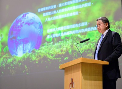 """Taiwan Cement Chairman, Nelson Chang, stated, """"Taiwan Cement is a determined pioneer that actively seeks environmental solutions. Doing well by doing good is our motto. We will use all of our strengths to participate in reducing emissions of carbon dioxide."""" (PRNewsfoto/Taiwan Cement Corp.)"""