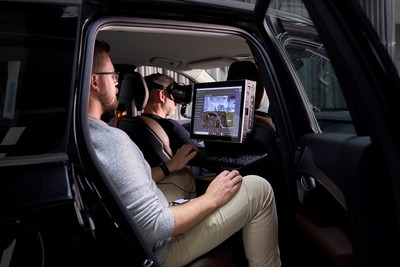 "Volvo Cars ""ultimate driving simulator"" uses latest gaming technology to develop safer cars (PRNewsfoto/Volvo)"